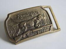 Vintage Remington Belt Buckle Hunting Sportsman Classic Cool Throwback