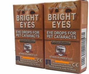 Ethos Bright Eyes Cataract Eye Drops for Dogs and Pets Two Boxes 20ml