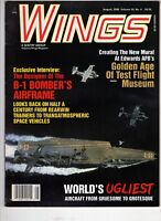 Wings Airplane Magazine Aug 2000 Ugliest Aircraft B-1 Bomber Airframe