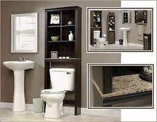 Bathroom Storage Cabinet Tall Linen Towel Over Toilet Wood Cupboard Organizer