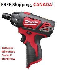 "MILWAUKEE M12 1/4"" Hex Compact Screwdriver 2401-20 Brand New!"