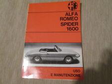 Libretto di uso e manutenzione Alfa Romeo Spider 1600 1967 PDF