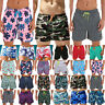 Mens Swimwear Boxer Briefs Beach Summer Shorts Holiday Sports Swim Trunks Pants