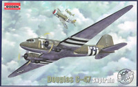 Roden 308 - Douglas C-47 Skytrain American 1/144 scale model airplane kit 134 mm