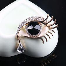 Design Brooch Pin Breastpin Gift Hot 1pc Beautiful Crystal Charm Eye Tear Drop