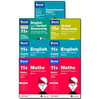 Bond 11+ Assessment(English,Maths),Comprehension Papers,Verbal Reasoning 7 Books