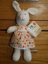 BNWT MOTHERCARE BUNNY FLORAL DRESS BABY SOFT TOY  TEDDY COMFORTER