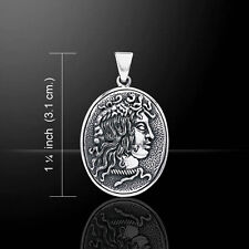 Medusa .925 Sterling Silver Greek Amulet Pendant by Peter Stone