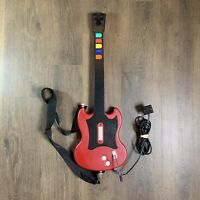 PS2 Guitar Hero Red Octane SG Wired Controller w/ Strap & Guitar Hero II