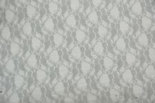Spandex Nylon Silver Floral  Lace stretch dance fabric SWIMWEAR COSTUMES 25 yard