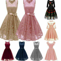 Women Lace Formal Wedding Bridesmaid Dress Homecoming Prom Ball Gown Dresses