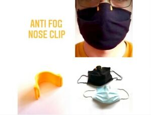 1 x White Anti-Fog Face Mask Nose Clip - Stop your glasses from fogging up.