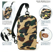 Japan A Bathing Ape Bape Green Camo Men's Cross Bape Magazine Bag Sling Bag