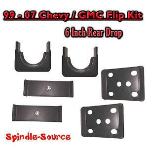 """1999 - 2007 Chevrolet Silverado / GMC Sierra 1500 6"""" REAR Flip Kit 2WD 4WD Truck"""