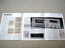 Sanyo Plus D-45 cassette deck brochure catalogue