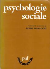 Livre psychologie sociale Serge Moscovici book