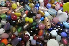 1/2 Lb/ Half Pound Lot- Assorted India Glass Beads Mix- Random shapes, styles...