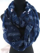 US Seller- Music Note Music Book Piano circle loop infinity scarf Cheap Wrap