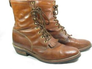 Chippewa Lacer Packer Boot Men size 11 D Brown Leather