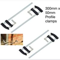 BRICKLAYERS 4pc Profile F Clamps 300 x 50mm Woodworking Builders Metal F Clamps