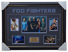 Foo Fighters Band Signed Photo Collage Framed - Dave Grohl Chris Shiflett + COA