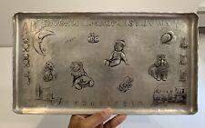 Antique Wendell August Hand Hammered Aluminum Folk Art Nursery Childs Tray