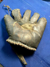 1910- 1920 CANADIAN MADE ANTIQUE BASEBALL GLOVE MITT SEPARATED FINGERS CANADA