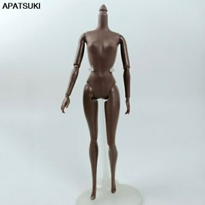"""Dark Chocolate 1/6 BJD Doll Accessories 11 Jointed Body for 11.5"""" Dollhouse Toy"""