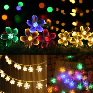 LED Solar Powered Fairy String Lights Battery Operated Indoor Garden Party Decor