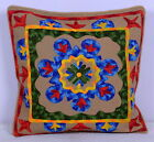 Ethnic Vintage Suzani Cushion Cover Embroidered 16''Indian Pillow Case Throw Art