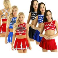 Women's Cheerleader Costume Sets High School Musical Outfit Fancy Dress Uniforms