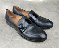 Madewell Elin Loafers Shoes Women's 9 Black Leather Casual slip-on E0208 EUC