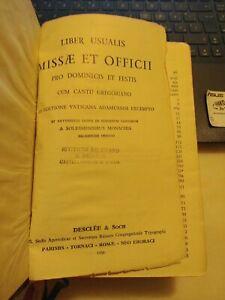 Liber usualis missæ et officii pro dominicis et festis cum cantu gregoriano 1958