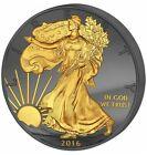 2016 1 Oz Silver Golden Enigma AMERICAN EAGLE 30Th Anniv PREMIUM Ruthenium Coin.