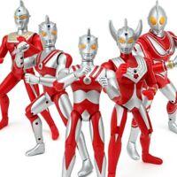 18,25cm Ultraman Taro Seven Jack Ace Cute Action Figures Doll Sound Toys Child