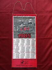 DDR Kalender 1985 BRANDSCHUTZ STÄNDIG UND ÜBERALL ! Feuerwehr Stoffkalender