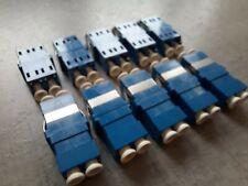 10pcs/pack LC - LC Duplex Fiber Optic Adapter Connector Coupler Singlemode SM
