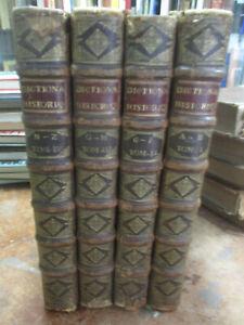 "Morery ""Le Grand Dictionnaire Historique"" Complet 4 Volumes Grand Format 1694"