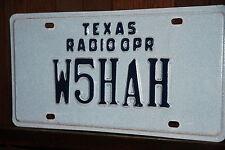 1990 s TEXAS  License Plate ***   RADIO OPERATOR  *** HAM