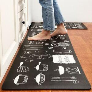 Kitchen Mat Non-Slip Waterproof Anti-Oil Home Door Floor Rug Carpet Easy Clean