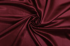 BURGUNDY SILKY SATIN DRESS/ WEDDING BRIDAL/ PROM DANCE DRESS CRAFT FABRIC