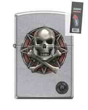 Zippo 207 Anne Stokes Collection Skull & Crossbones RARE Lighter + FLINT PACK