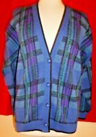 Vintage Pendleton Wool Womens Plaid Sweater Cardigan M Medium