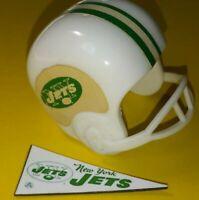 1967 AFL New York JETS Vintage mini gumball football helmet Tudor PENNANT NFL 1