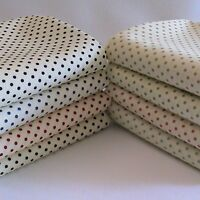 SMALL POLKA DOT FABRIC 3MM SPOTS ON CREAM, 100% COTTON, FAT QUARTER, SPOTTY.
