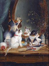 Kittens in the boudoir Tile Mural Kitchen Bathroom Wall Backsplash Ceramic 6x8
