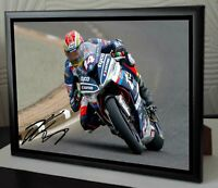 "Dan Kneen Motor Cycle legend Framed Canvas Signed ""Great Gift"""