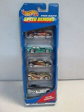 Hot Wheels 5 Car Gift Pack Speed Demons w Maroon racer
