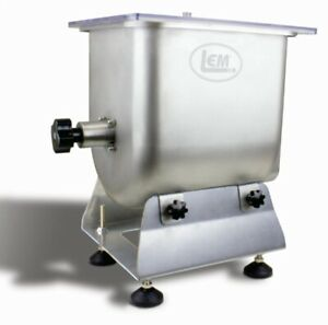 LEM 25 lb Big Bite Hand Crank Manual Meat Mixer or Motorized with LEM Grinder