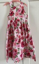 Girls Mini Boden 7-8 Floral Halter Neck Dress Pink